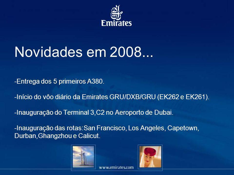 Novidades em 2008. -Entrega dos 5 primeiros A380