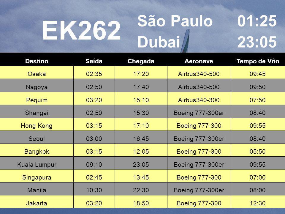 Vôo Emirates GRU / DXB / GRU