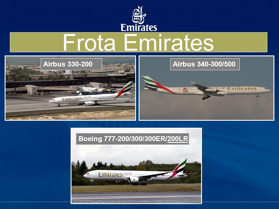 Frota Emirates Airbus 330-200 Airbus 340-300/500