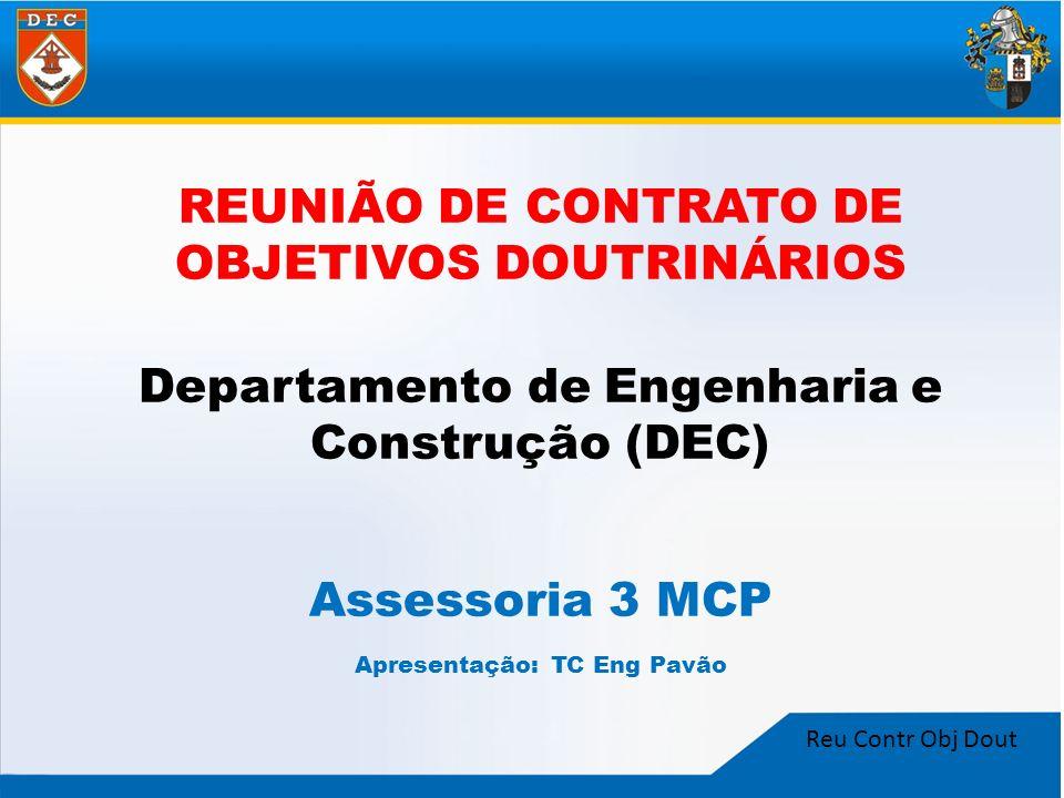 REUNIÃO DE CONTRATO DE OBJETIVOS DOUTRINÁRIOS