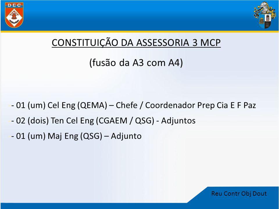 CONSTITUIÇÃO DA ASSESSORIA 3 MCP