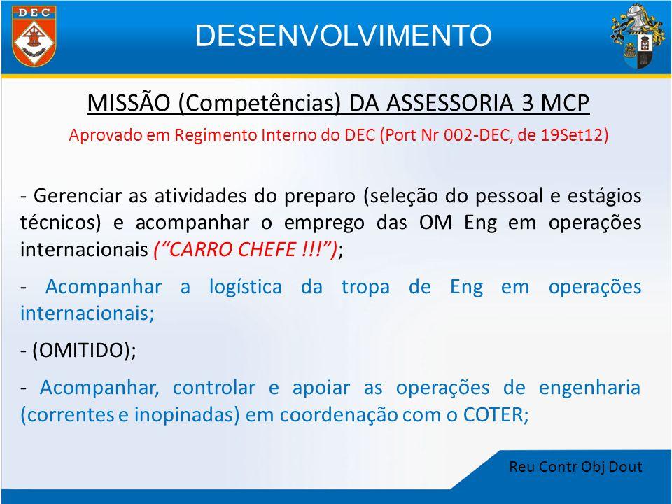 DESENVOLVIMENTO MISSÃO (Competências) DA ASSESSORIA 3 MCP