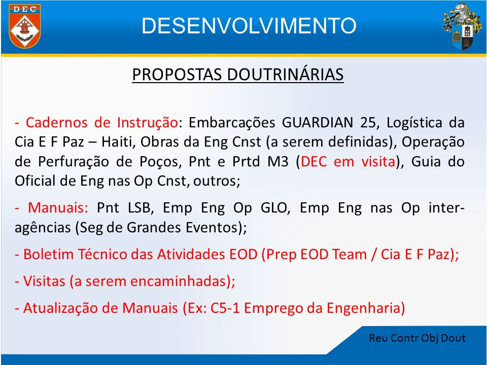 PROPOSTAS DOUTRINÁRIAS