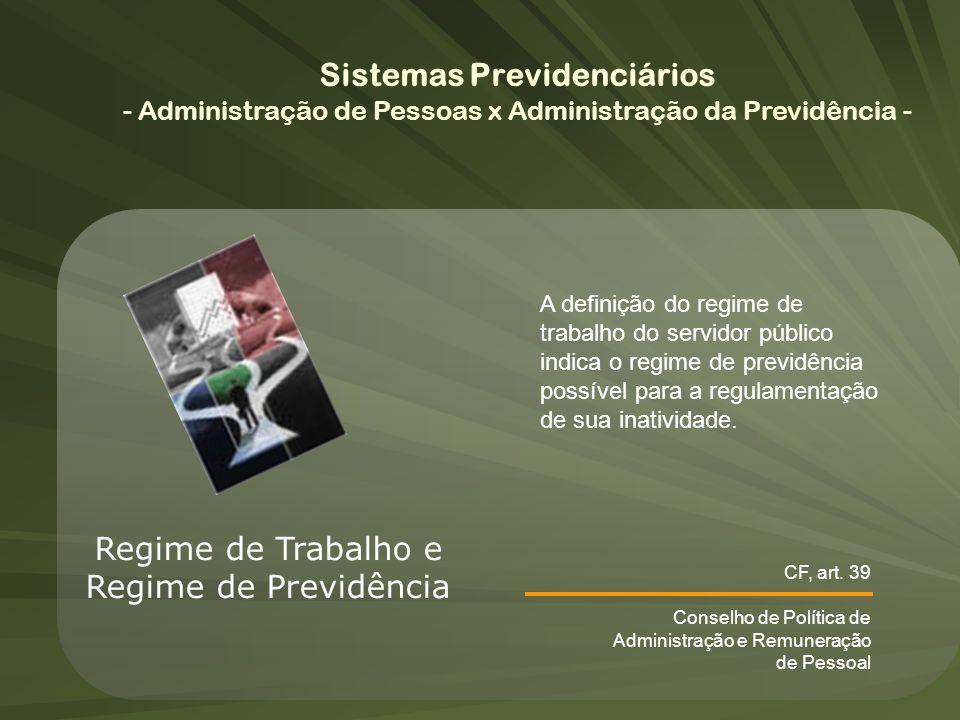 Sistemas Previdenciários