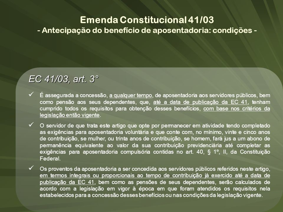 Emenda Constitucional 41/03