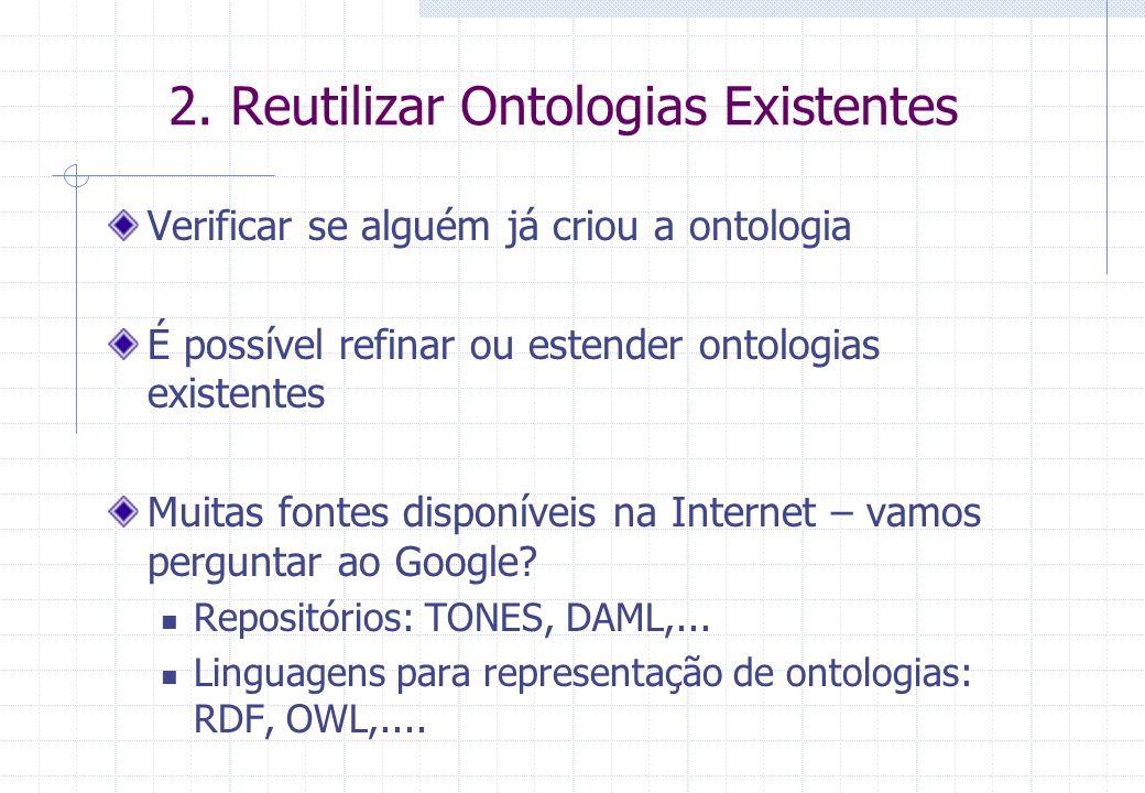 2. Reutilizar Ontologias Existentes