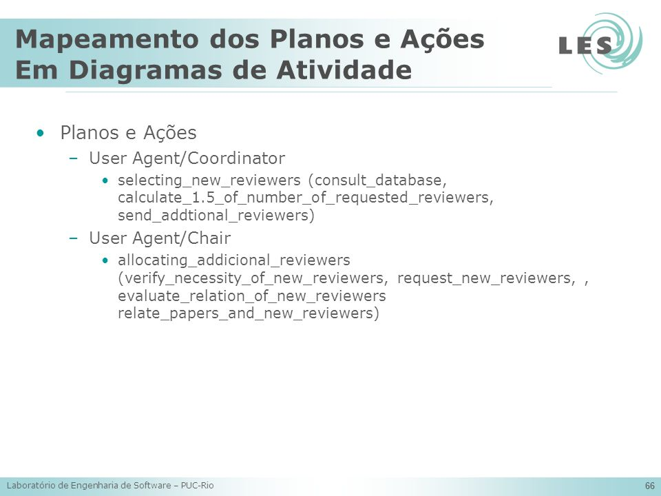 Mapeamento dos Planos e Ações Em Diagramas de Atividade