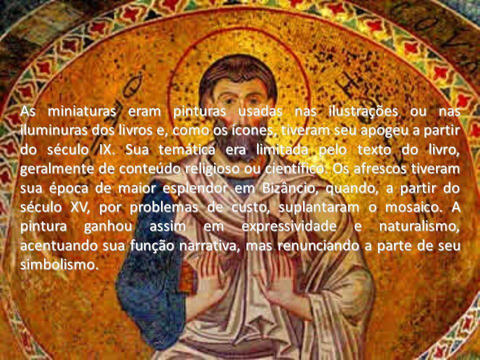 As miniaturas eram pinturas usadas nas ilustrações ou nas iluminuras dos livros e, como os ícones, tiveram seu apogeu a partir do século IX.