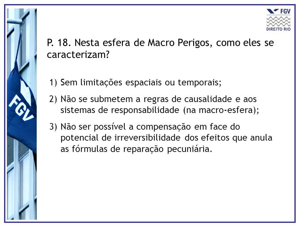 P. 18. Nesta esfera de Macro Perigos, como eles se caracterizam
