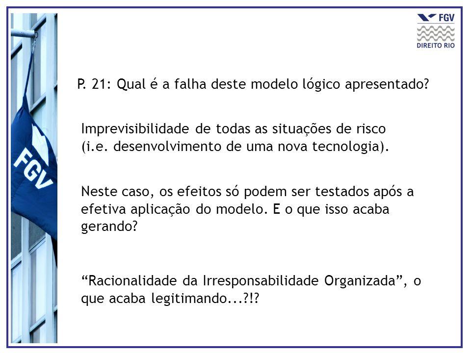 P. 21: Qual é a falha deste modelo lógico apresentado
