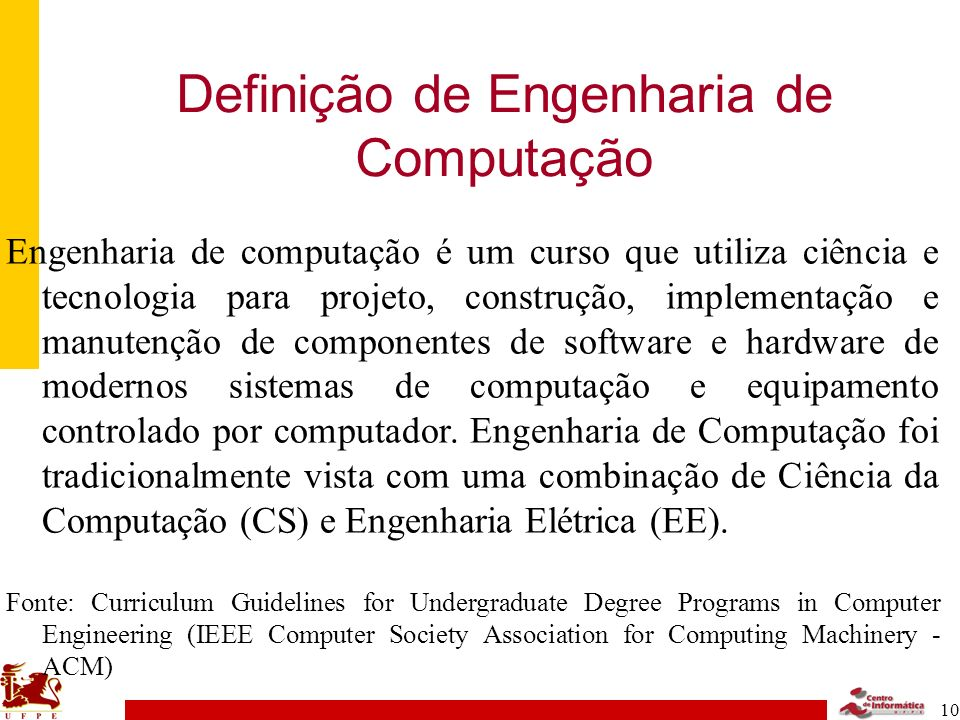 Definição de Engenharia de Computação