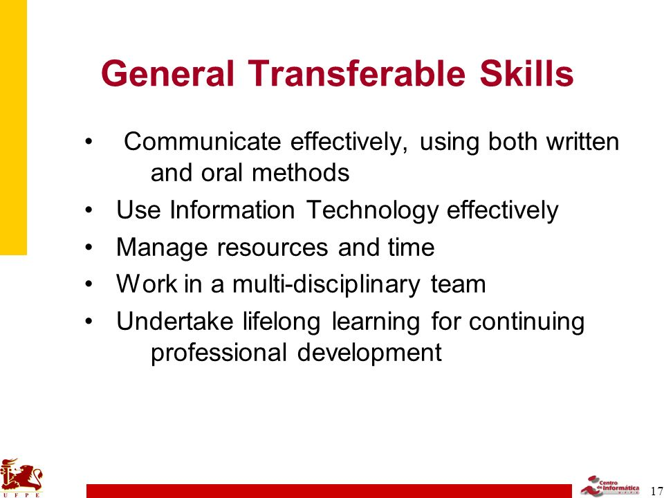 General Transferable Skills