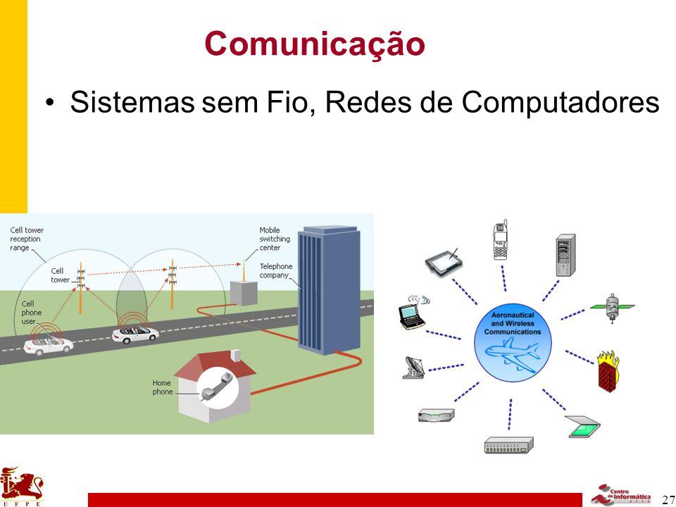 Comunicação Sistemas sem Fio, Redes de Computadores