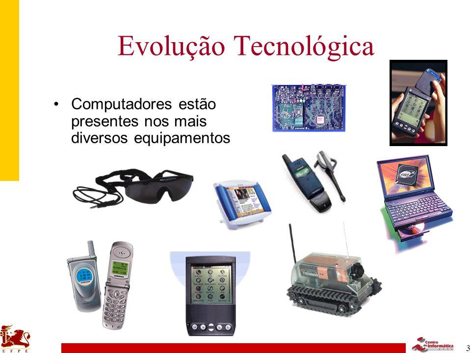 Evolução Tecnológica Computadores estão presentes nos mais diversos equipamentos