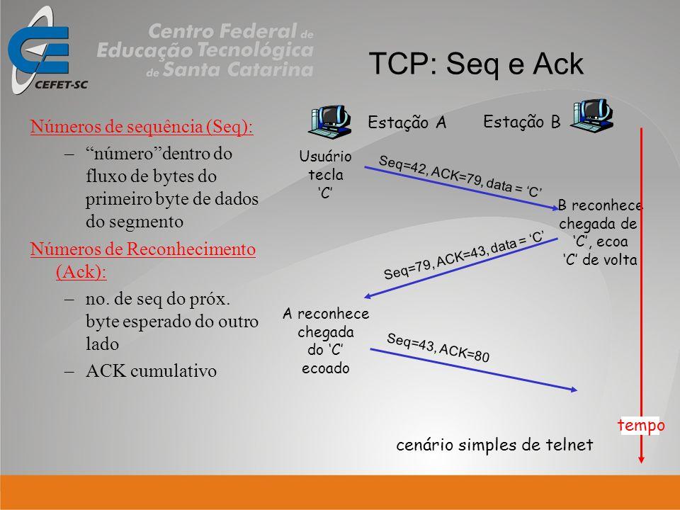 cenário simples de telnet