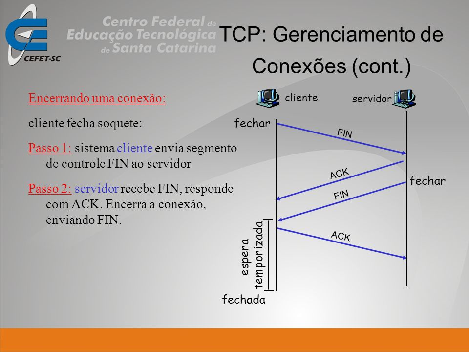 TCP: Gerenciamento de Conexões (cont.)