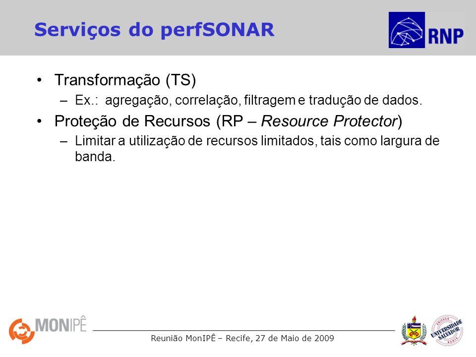 Serviços do perfSONAR Transformação (TS)