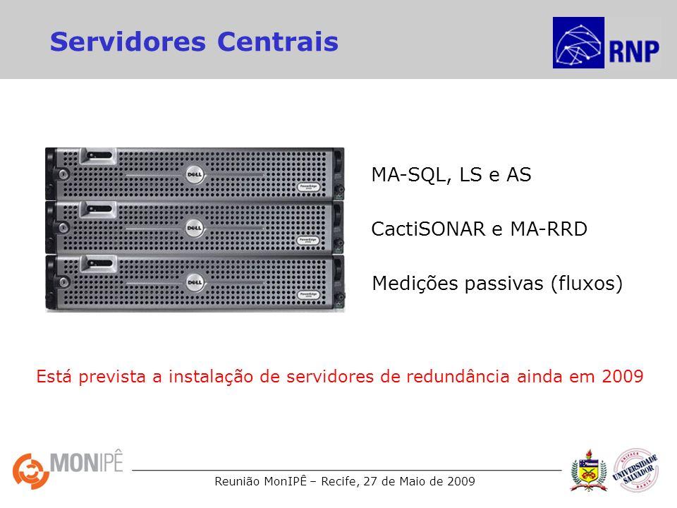 Servidores Centrais MA-SQL, LS e AS CactiSONAR e MA-RRD