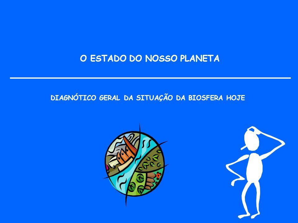 DIAGNÓTICO GERAL DA SITUAÇÃO DA BIOSFERA HOJE