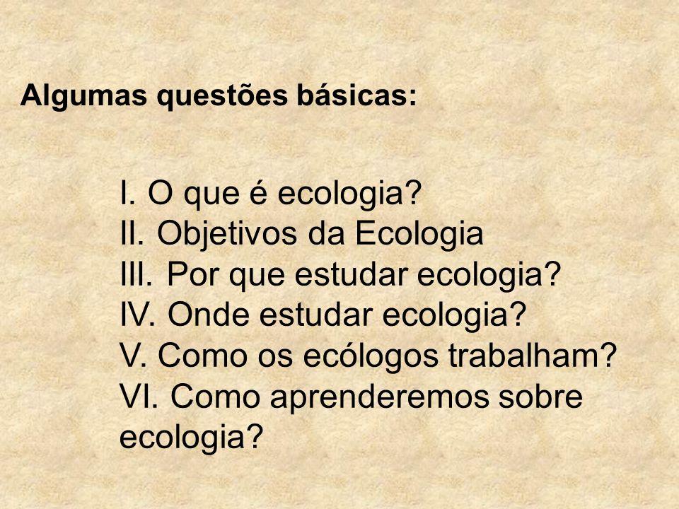 Algumas questões básicas: