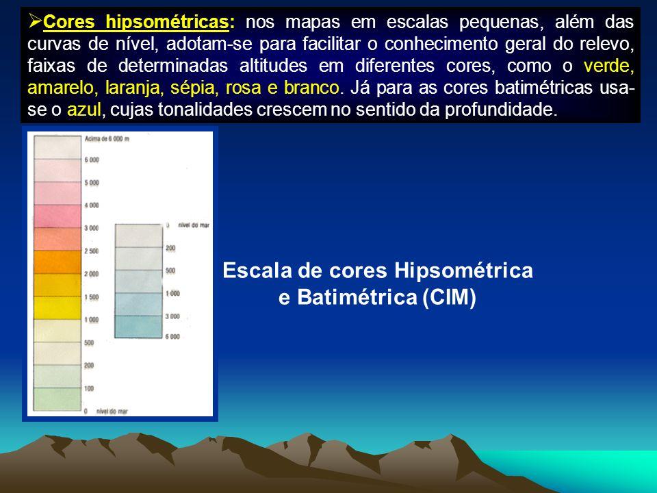 Escala de cores Hipsométrica e Batimétrica (CIM)