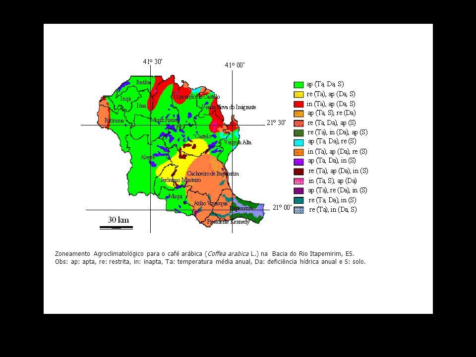 Zoneamento Agroclimatológico para o café arábica (Coffea arabica L