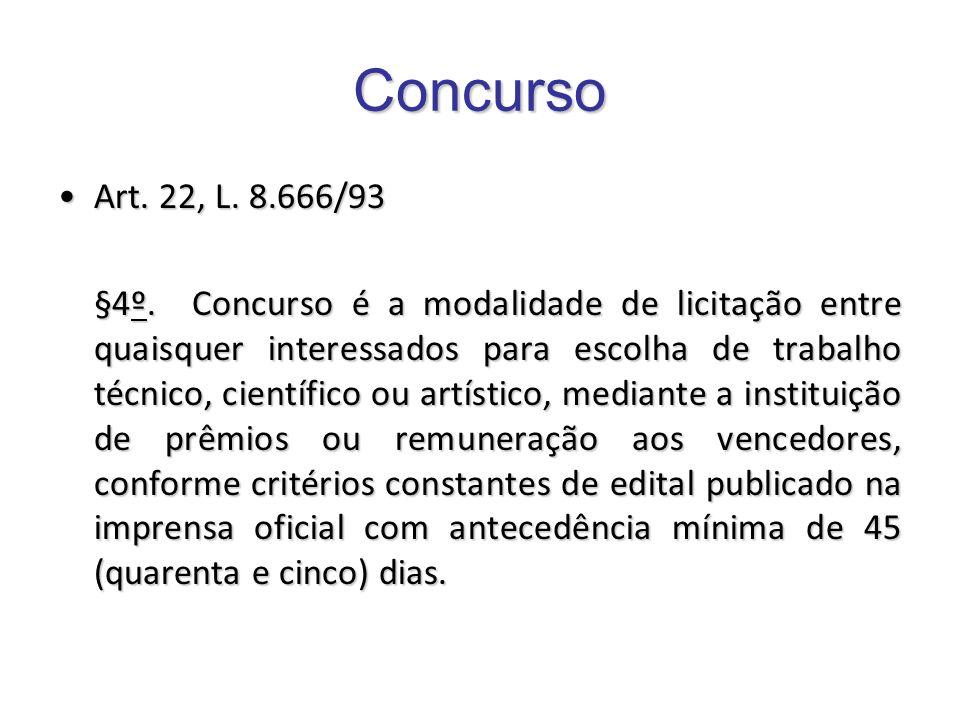 Concurso Art. 22, L. 8.666/93.