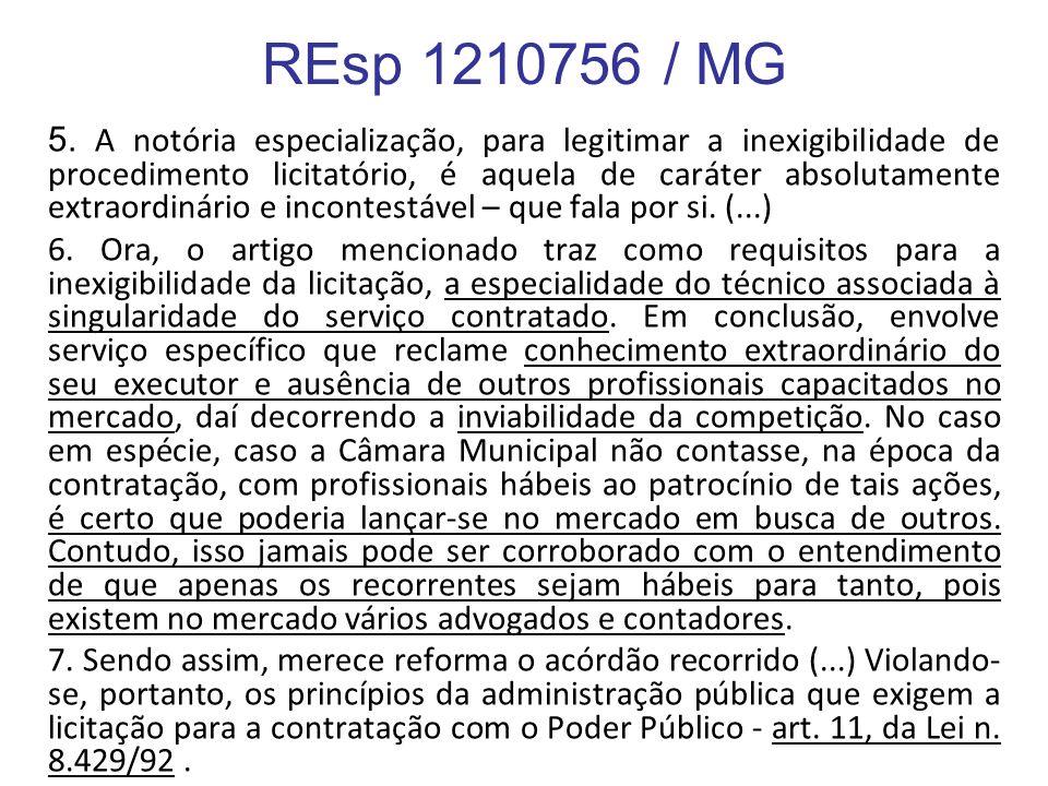 REsp 1210756 / MG