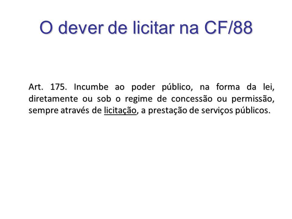 O dever de licitar na CF/88