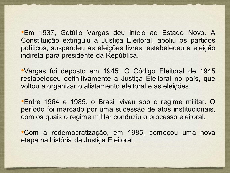 Em 1937, Getúlio Vargas deu início ao Estado Novo