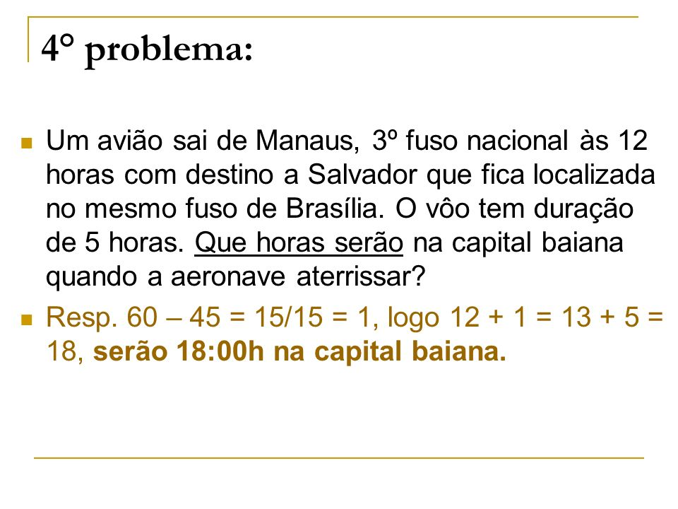 4° problema: