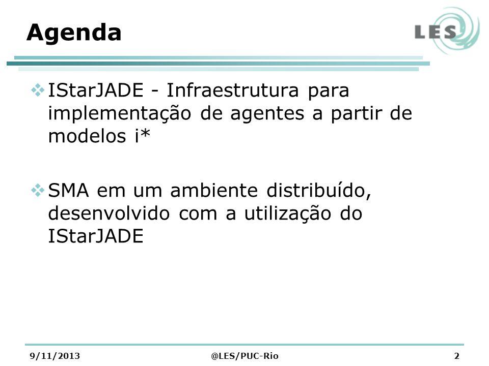 Agenda IStarJADE - Infraestrutura para implementação de agentes a partir de modelos i*