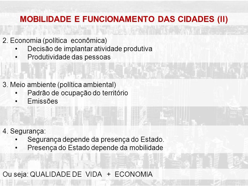 MOBILIDADE E FUNCIONAMENTO DAS CIDADES (ll)