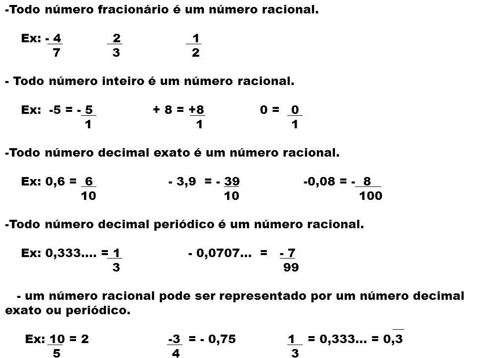 Todo número fracionário é um número racional.