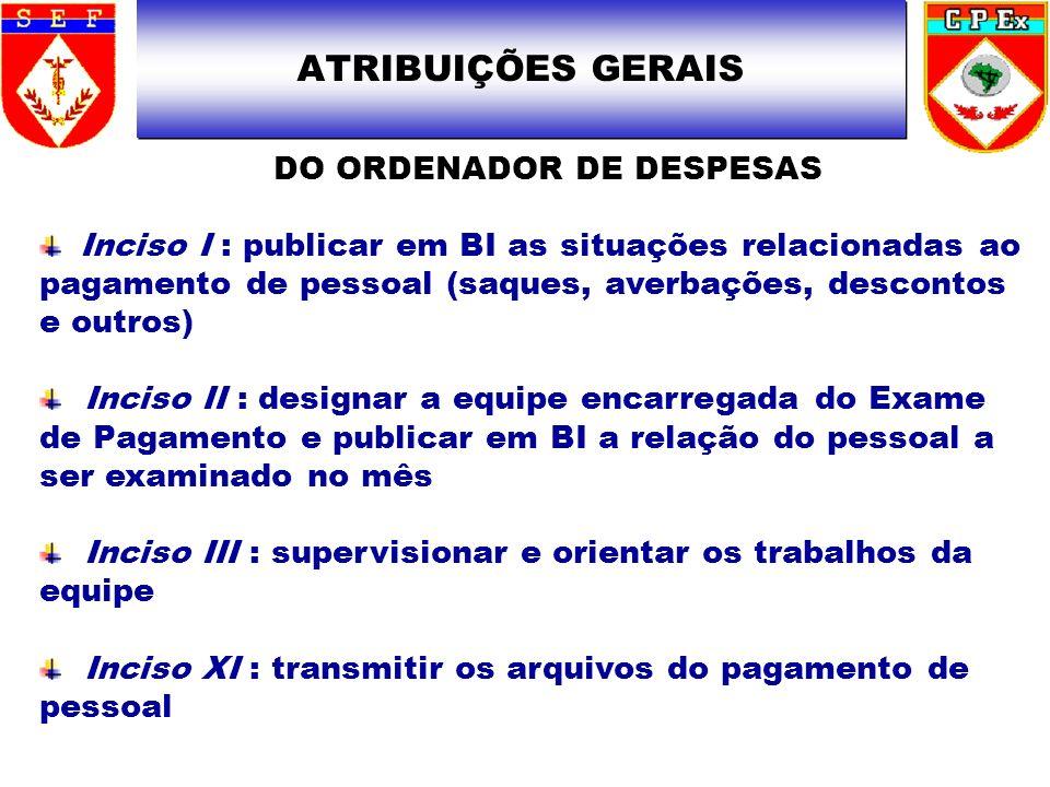 DO ORDENADOR DE DESPESAS