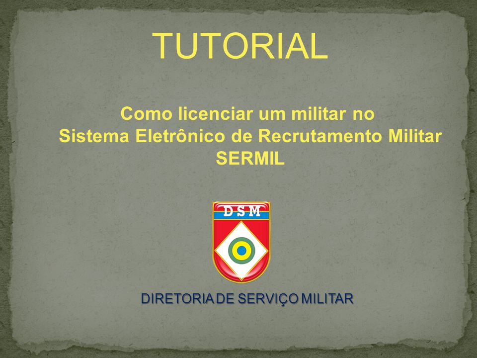 TUTORIAL Como licenciar um militar no