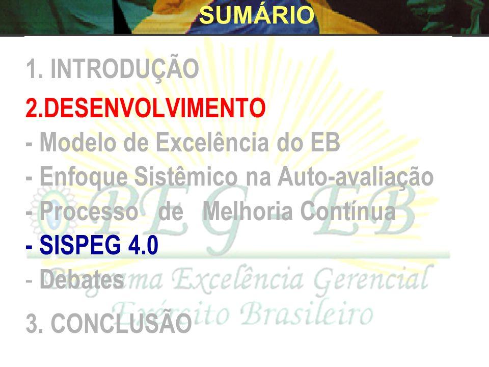 - Modelo de Excelência do EB - Enfoque Sistêmico na Auto-avaliação