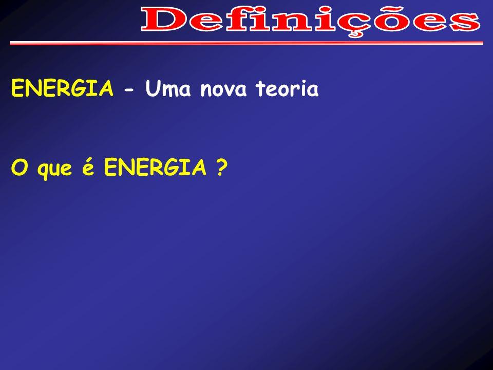 Definições ENERGIA - Uma nova teoria O que é ENERGIA