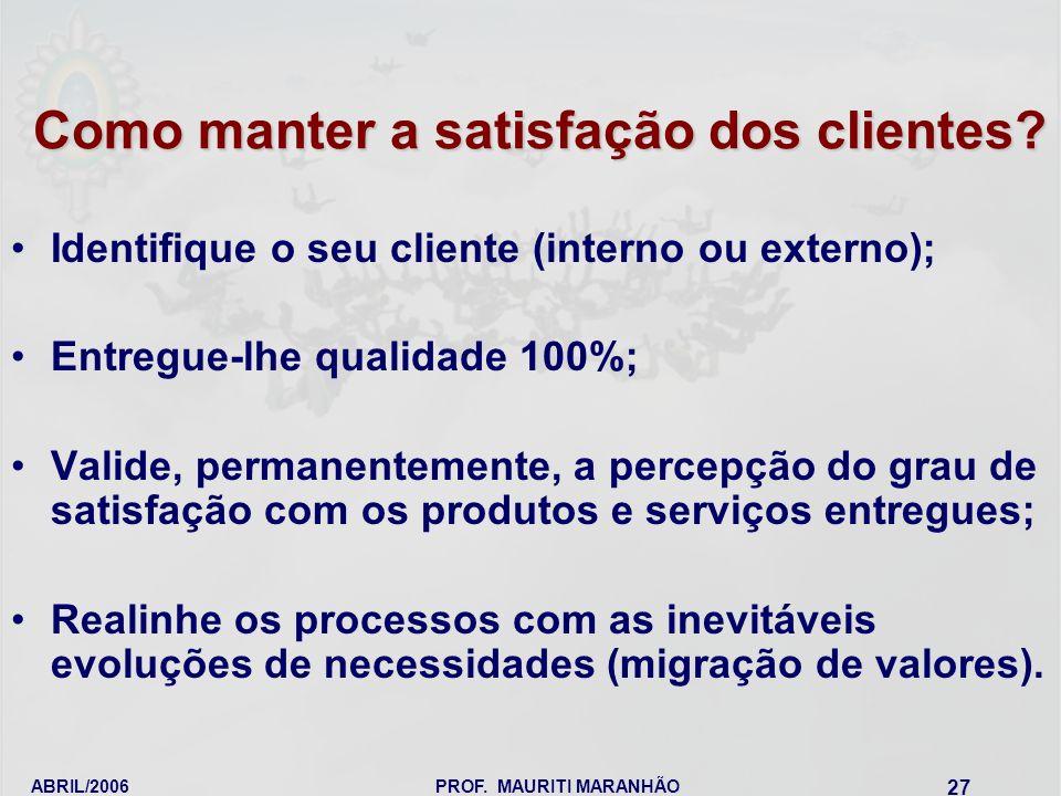 Como manter a satisfação dos clientes