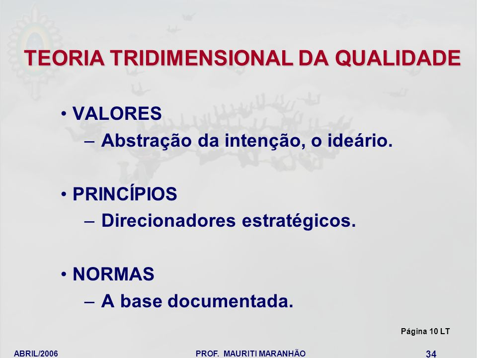 TEORIA TRIDIMENSIONAL DA QUALIDADE