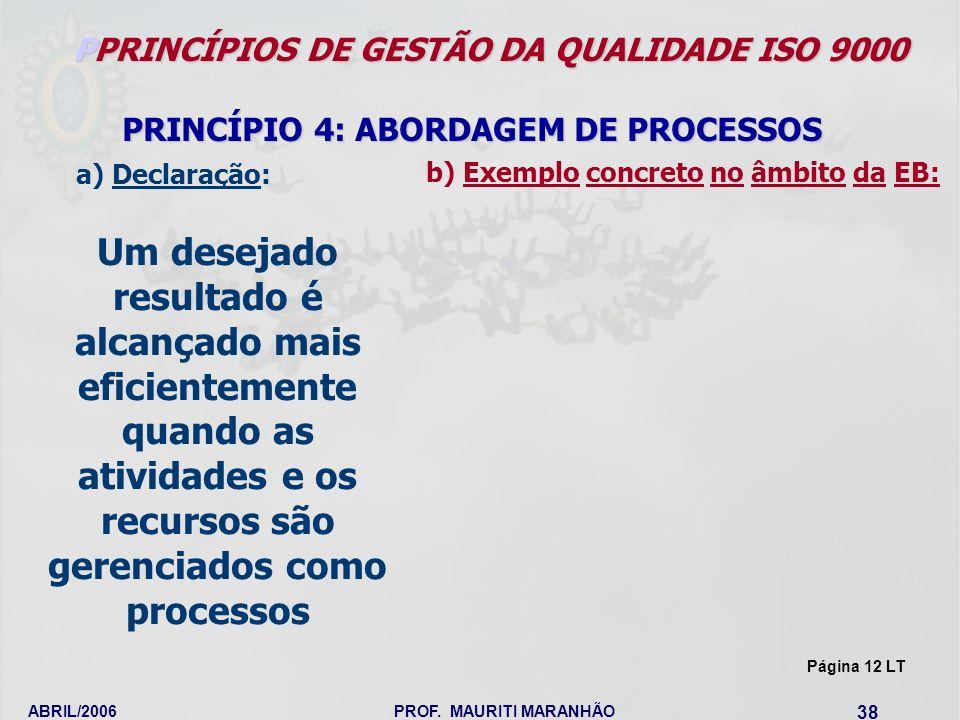 PPRINCÍPIOS DE GESTÃO DA QUALIDADE ISO 9000