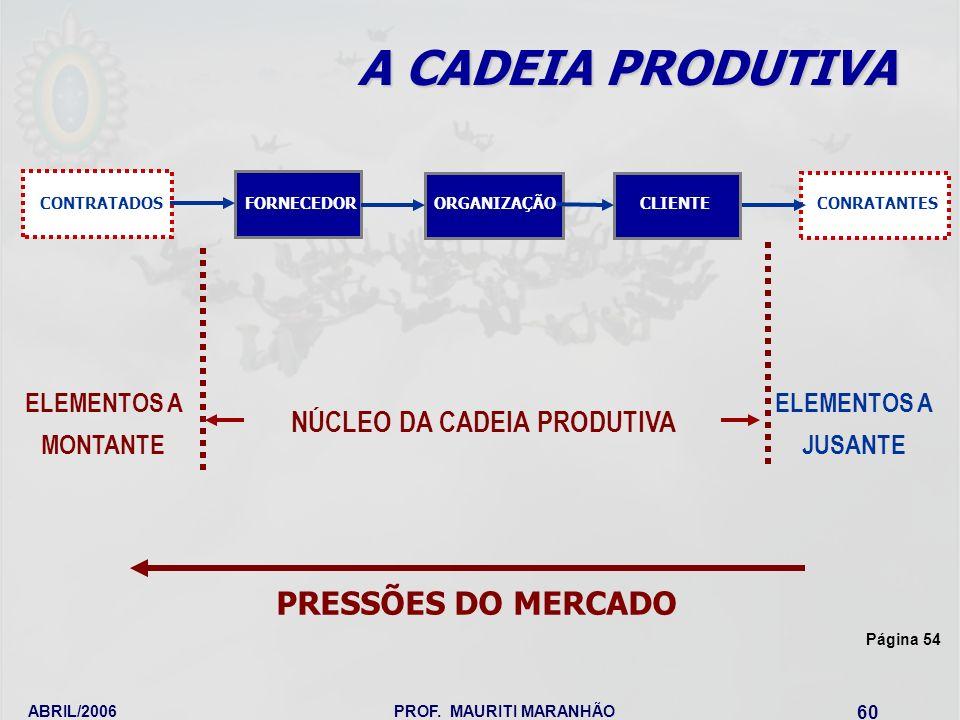 NÚCLEO DA CADEIA PRODUTIVA