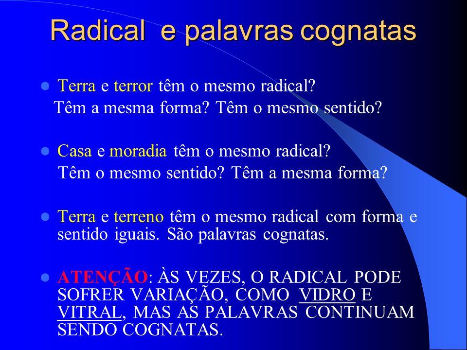 Radical e palavras cognatas