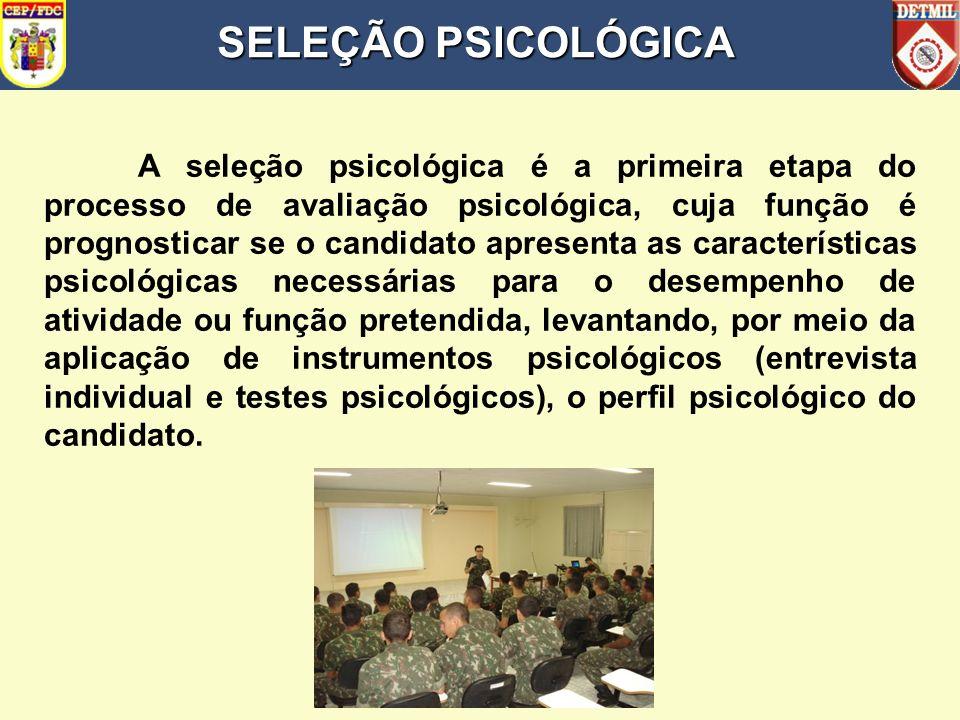 SUMÁRIO SELEÇÃO PSICOLÓGICA 2. DESENVOLVIMENTO a. CENÁRIO ATUAL