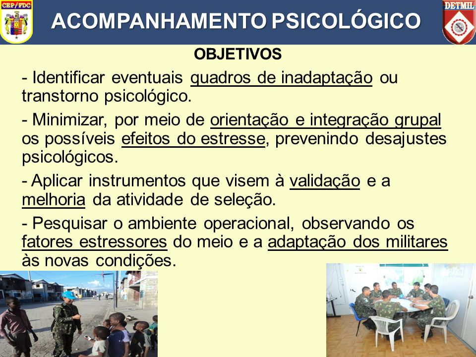 ACOMPANHAMENTO PSICOLÓGICO