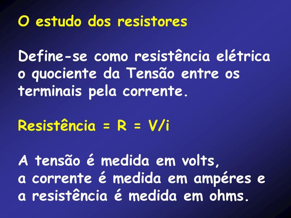 O estudo dos resistores