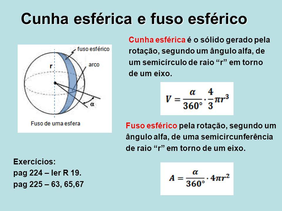 Cunha esférica e fuso esférico