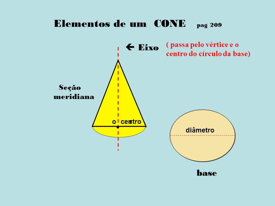 Elementos de um CONE pag 209