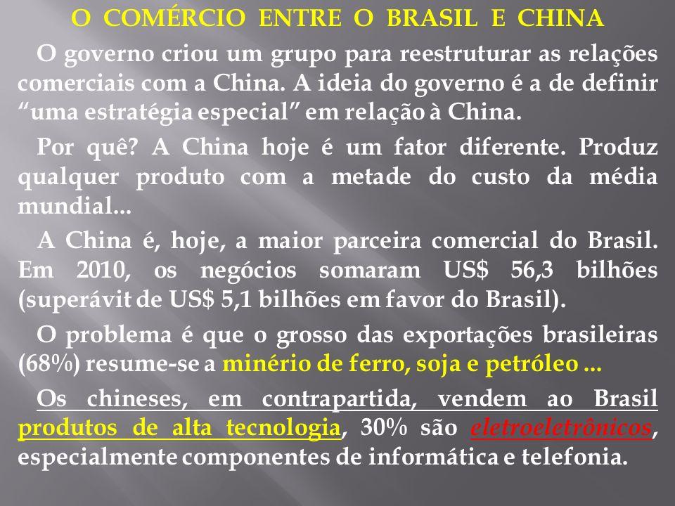 O COMÉRCIO ENTRE O BRASIL E CHINA