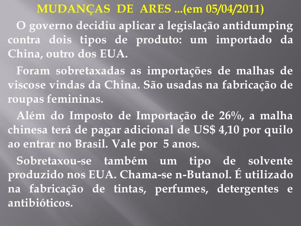 MUDANÇAS DE ARES ...(em 05/04/2011)